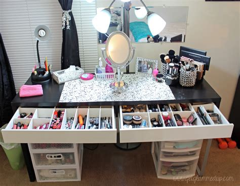 see through makeup desk video beauty room tour updated makeup collection