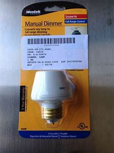 6 Westek Manual Dimmer Screw In Socket Lamp Bulb Light