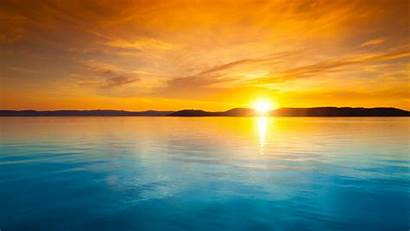 Sunset Landscape Horizon Gambar Pemandangan Desktop Wallpapers
