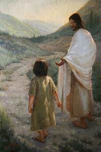 Jesus leading a child | pinturas | Pinterest | Jesus ...