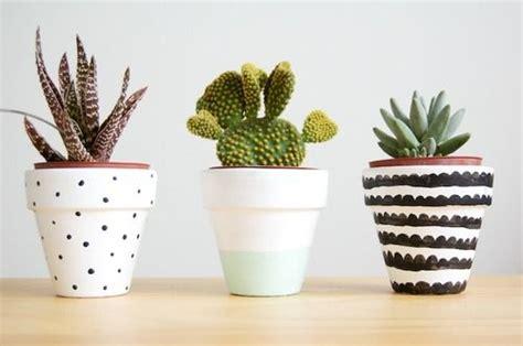 Cactus Painted Flower Pot Ideas