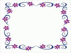 Simple Flower Border Designs For School Projects