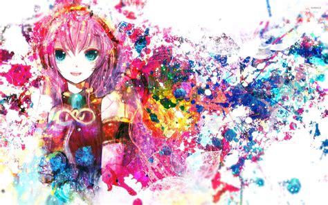 Anime Wallpaper Vocaloid - paint splash of megurine luka vocaloid wallpaper anime