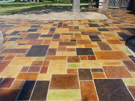 painted concrete patio concreate patio ideas