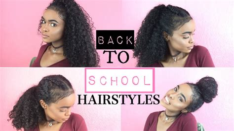 back to school hairstyles for curly hair halssa youtube