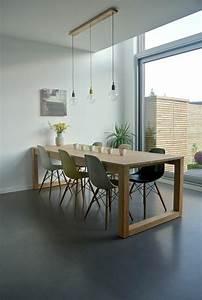 Plafonnier Salle à Manger : la meilleure table de salle manger design en 42 photos ~ Teatrodelosmanantiales.com Idées de Décoration