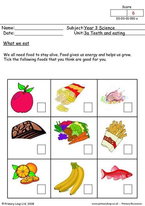 healthy food worksheets grade  le