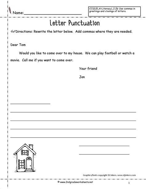 letters  parts   letter worksheet
