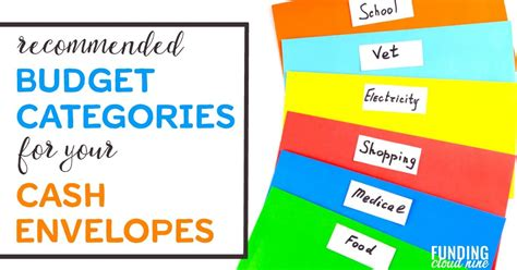 Recommended Envelope System Categories for Beginners