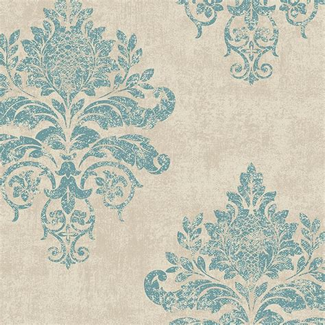 medallion damask wallpaper discount wallcovering