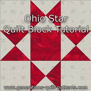 Ohio Star Quilt Block: Illustrated Step-by-Step