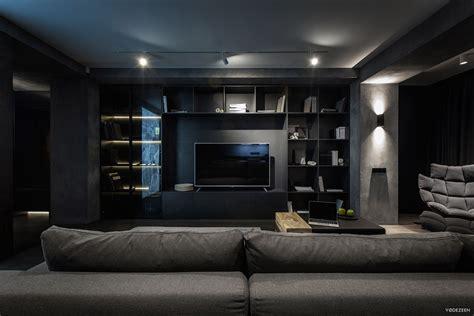exquisite modern dark interiors adorable home