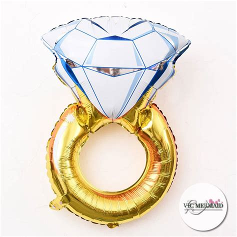 Balon Ring ring foil helium balloons wedding engagement