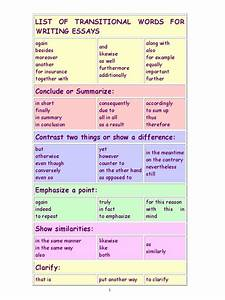 English words to use in essays