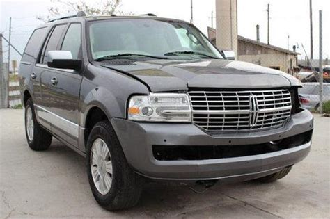 old car owners manuals 2010 lincoln navigator l electronic valve timing sell used 2010 lincoln navigator 4wd damaged rebuilder only 38k miles runs loaded l k in