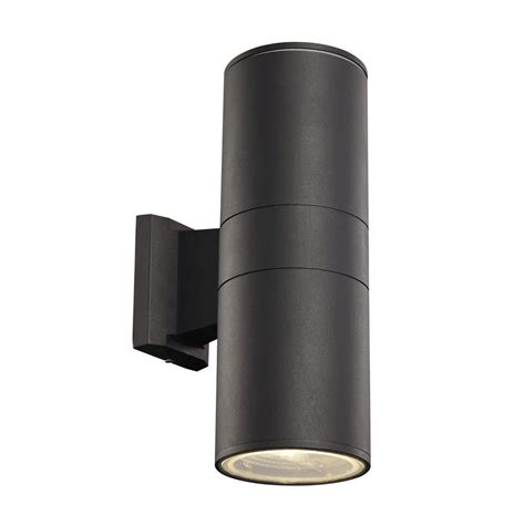 bel air lighting 2 light black outdoor integrated led wall