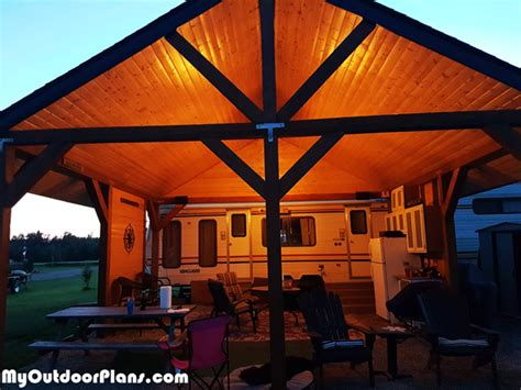 picnic shelter diy project myoutdoorplans