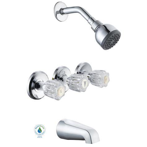 Three Handle Tub Faucet by Glacier Bay Aragon 3 Handle 1 Spray Watersense Tub And