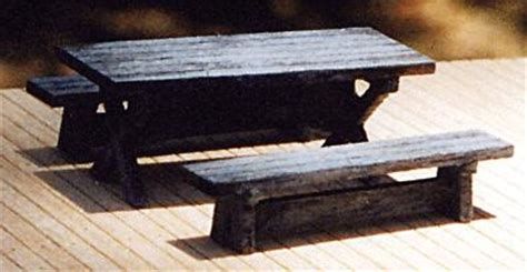 model train table kit logger picnic table kit ho scale model railroad building