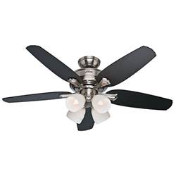 channing 52 in indoor brushed nickel ceiling fan with light kit 52071 the home depot