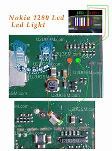 Nokia 1280 Led Lcd Display Light Solution Jumpers Ways