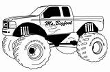 Monster Truck Coloring Printable sketch template