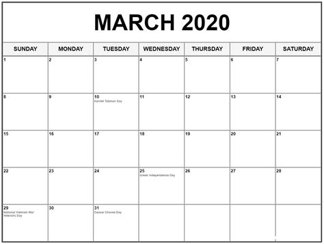 march calendar size calendar printable