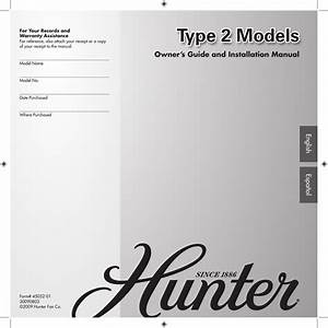 Hunter Fan 20728 20732 Owner S Manual