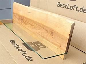 Ein Original BestLoft Wandregal 100cm Mit Baumkante Aus