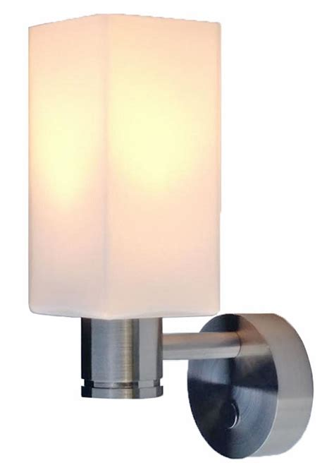 12 volt led wall sconce light 10 30vdc with glass shade
