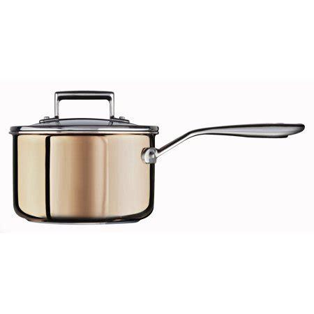 kitchenaid tri ply copper  quart saucepan  lid kcpplcp walmartcom walmartcom