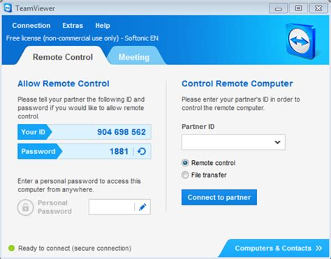 controle de bureau a distance teamviewer touch pour windows 10 windows télécharger