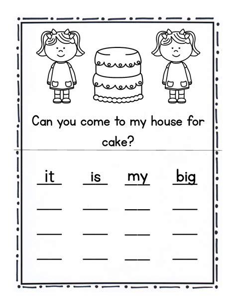 pre k sight words worksheets worksheets for all