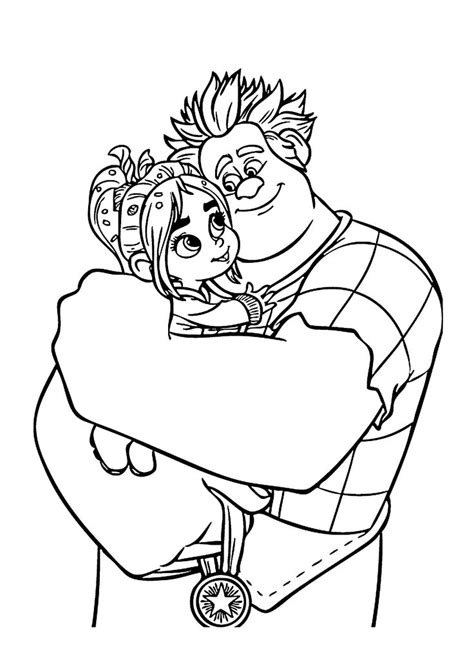 ralph  vanellope coloring pages  kids printable