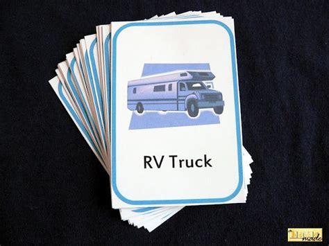homemade car scavenger hunt card game fun