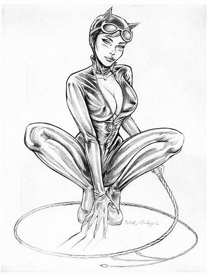 Catwoman Deviantart Drawing Ginkgo Fanart Coloring Drawings