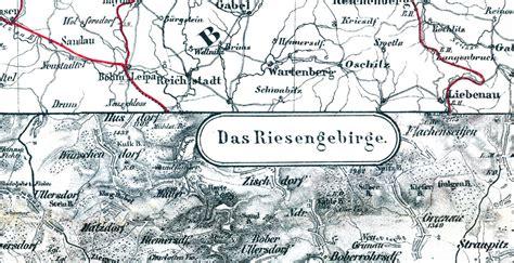 historische karte schlesien riesengebirge um  plano