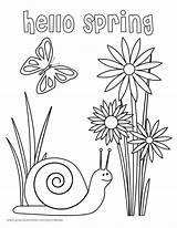 Coloring Spring Hello Pages Printables Printable Fridge March Refrigerator Seasons Print Pdf Precisionroller Getcolorings Precision Flowers Colorings  8x10 sketch template