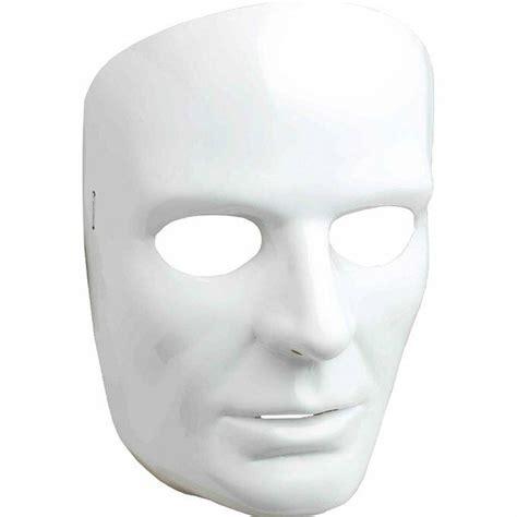 venetian mardi gras fancy white blank face male plastic