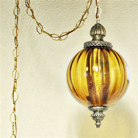 hanging swag l vintage hanging light fixture swag l chain cord mid