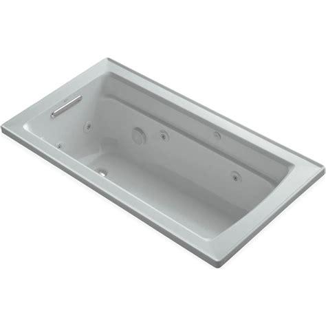 45 ft drop in bathtub kohler archer 5 ft acrylic rectangular drop in whirlpool
