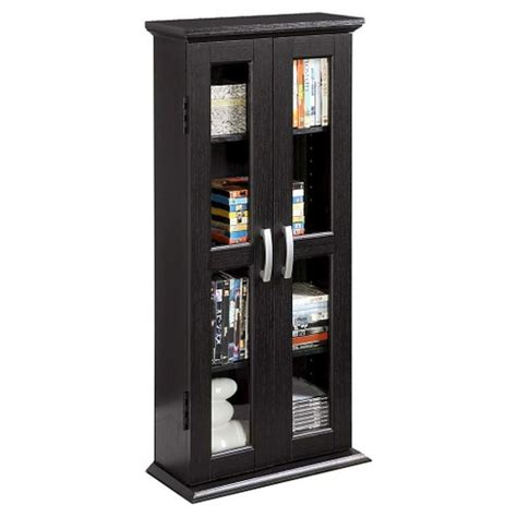 media tower cabinet 41 quot wood media storage tower cabinet black saracina