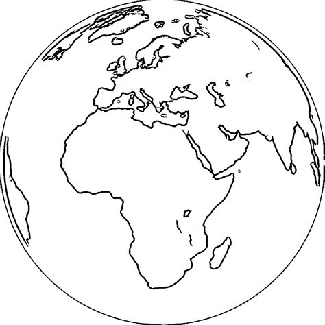 Coloring Earth by Earth Globe Coloring Page Wecoloringpage 067