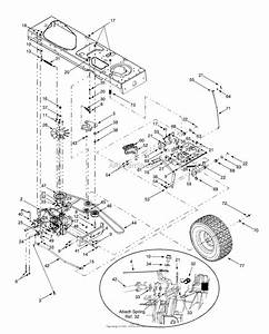 Mtd 13ag619h022  2000  Parts Diagram For Drive  Wheels Rear  Pedals