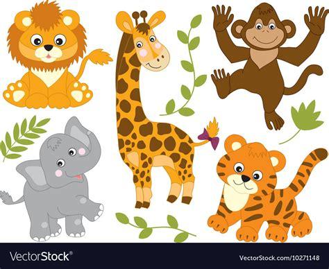 safari animals royalty  vector image vectorstock
