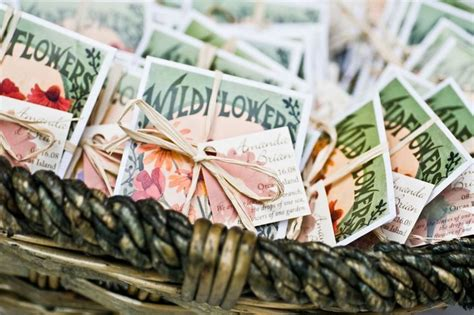 wildflower seed packets wedding favors diy crafts