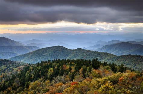 Appalachian Mountains Fall Iphone Wallpaper by Blue Ridge Parkway Autumn Mountains Sunset Nc Boundless