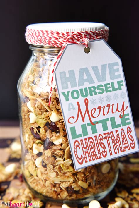 gingerbread granola with dried cranberries pistachios