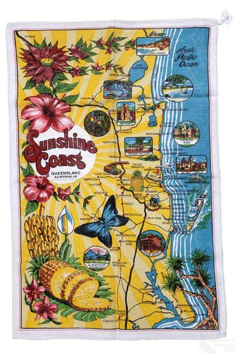 queensland   tea towel queensland historical atlas
