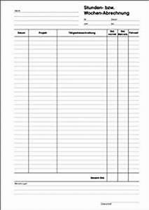 Datev Abrechnung : stunden bzw wochenabrechnung stundennachweis vorlage a4 durchschreibend 50 blatt ~ Themetempest.com Abrechnung